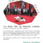 Musée des Beaux Arts|La Nona Ora|Maurizio Cattelan|10 mai 2014