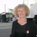 Vendredi 12  Sylviane soutient à fond les mobilacteurs